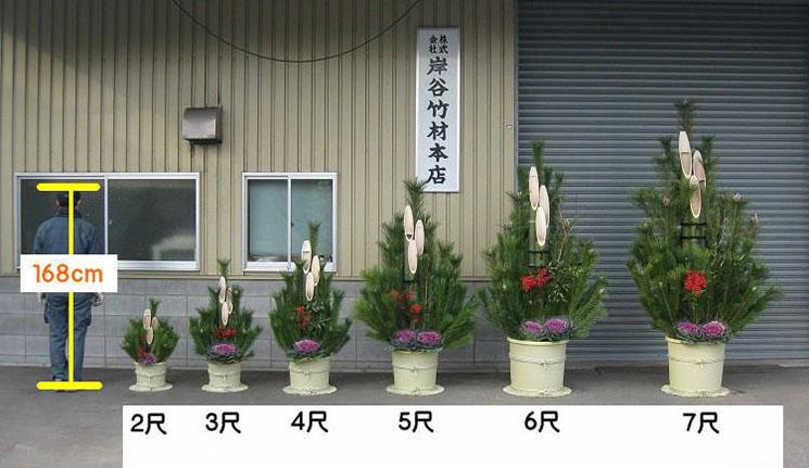 門松飾り サイズ